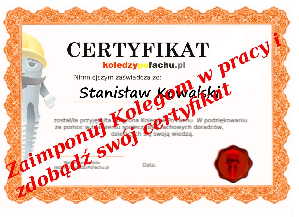 certyfikatwww